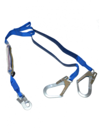Fold back shock absorbing lanyard 1.75m
